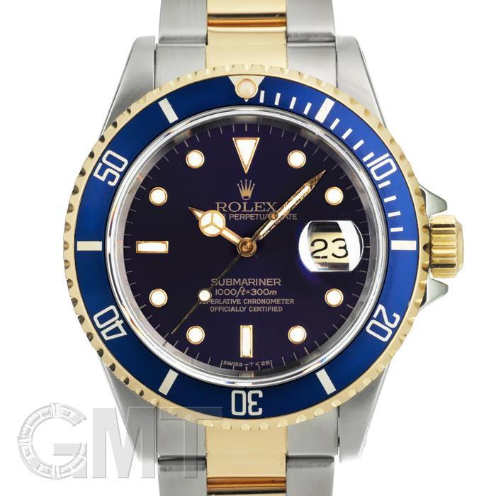 [最大3万円引き! 5/1]ロレックス サブマリーナー デイト 16613 ブルー バイオレット X番 ROLEX中古メンズ腕時計 送料無料