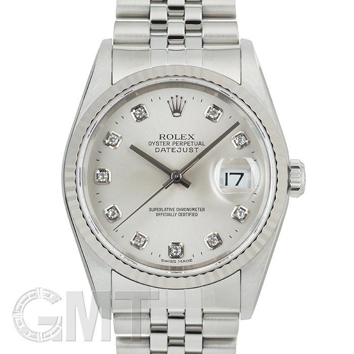 [最大3万円引き! 5/1]ロレックス デイトジャスト 16234G シルバー Y番 ROLEX 中古メンズ 腕時計 送料無料 _年中無休
