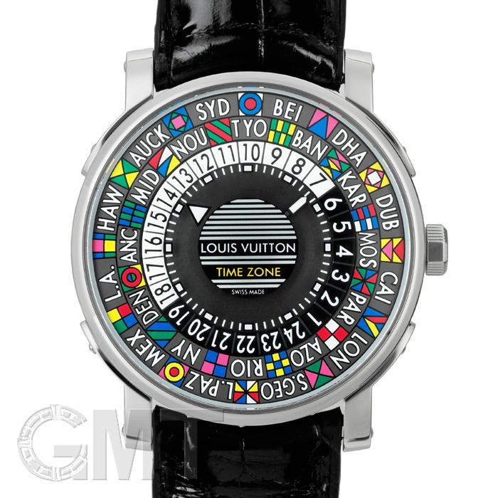 [最大3万円引き! 5/1]ルイ・ヴィトン エスカル オートマティック タイムゾーン Q5D200 LOUIS VUITTON 中古メンズ 腕時計 送料無料 _年中無休