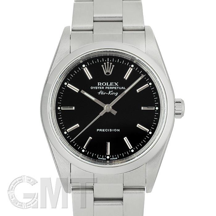 [最大3万円引き! 5/1]ロレックス エアキング 14000 ブラック P番 ROLEX 中古メンズ 腕時計 送料無料 年中無休