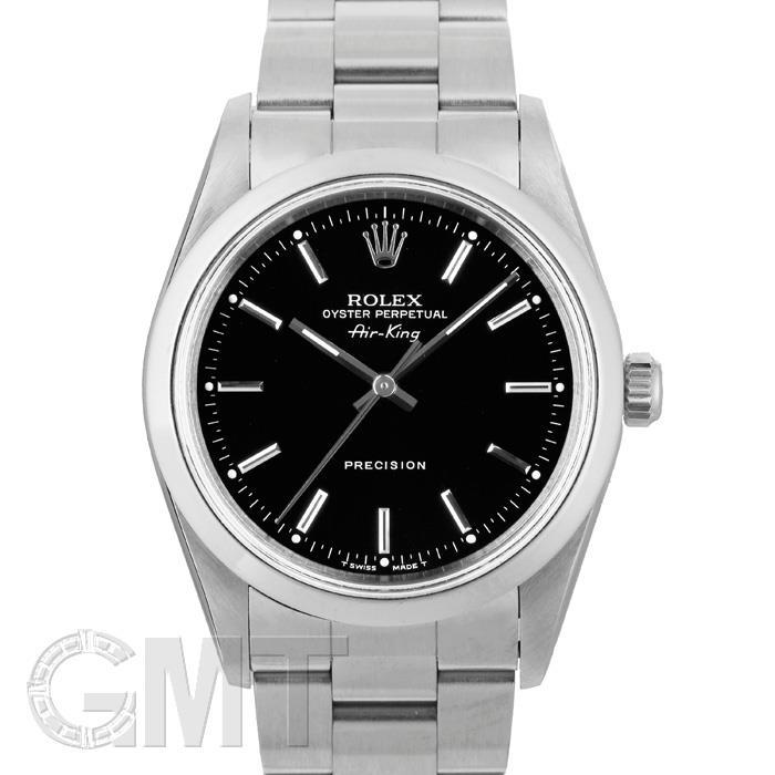[最大3万円引き! 5/1]ロレックス エアキング 14000 ブラック X番 ROLEX 中古メンズ 腕時計 送料無料 年中無休
