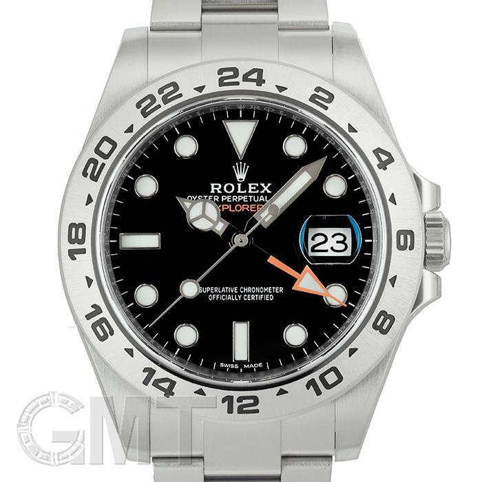 [最大3万円引き! 5/1]ロレックス エクスプローラ II 216570 ブラック ランダムシリアル ROLEX 中古メンズ 腕時計 送料無料 年中無休