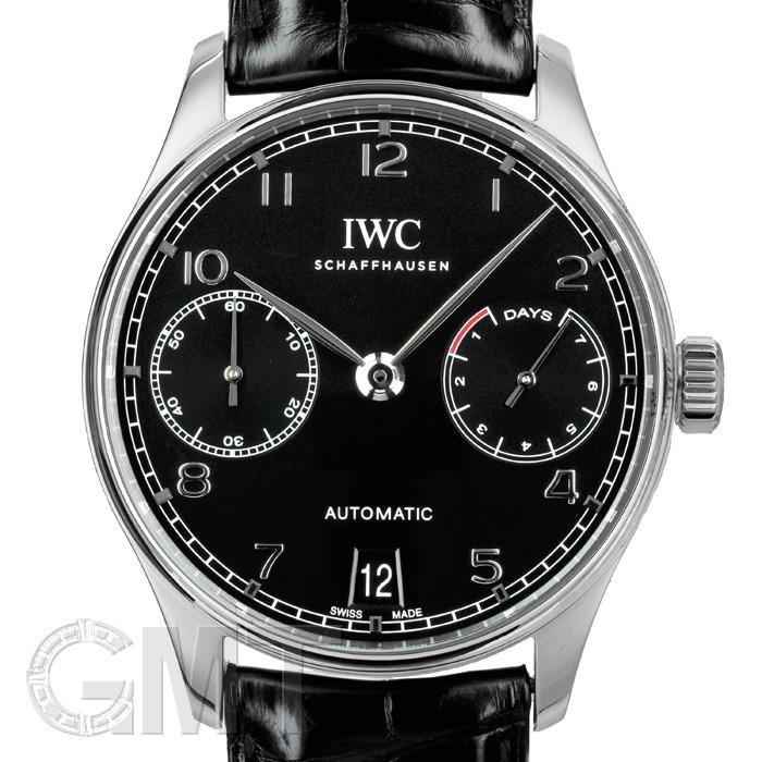 [最大3万円引き! 5/1]IWC ポルトギーゼ 7DAYS ブラック IW500703 IWC 中古メンズ 腕時計 送料無料 _年中無休