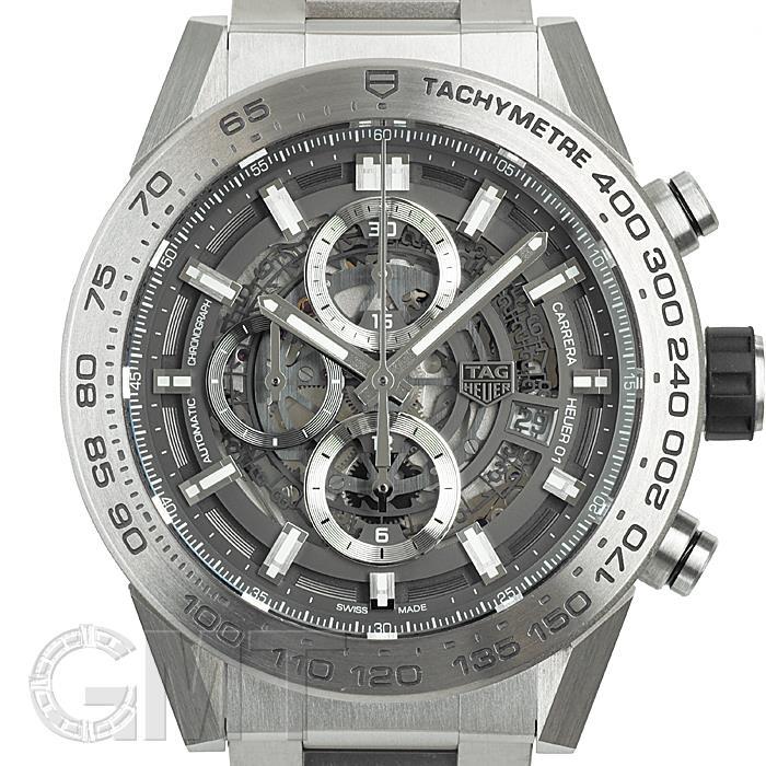 [最大3万円引き! 5/1]タグ・ホイヤー カレラ キャリバー ホイヤー01 グレーファントムチタニウム CAR2A8A.BF0707 TAG HEUER 中古メンズ 腕時計 送料無料 年中無休