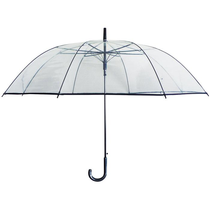 特大サイズの透明ビニール傘 ビニール傘 POE傘 70cm 1本 高品質 大判ジャンプ 宅配便送料無料