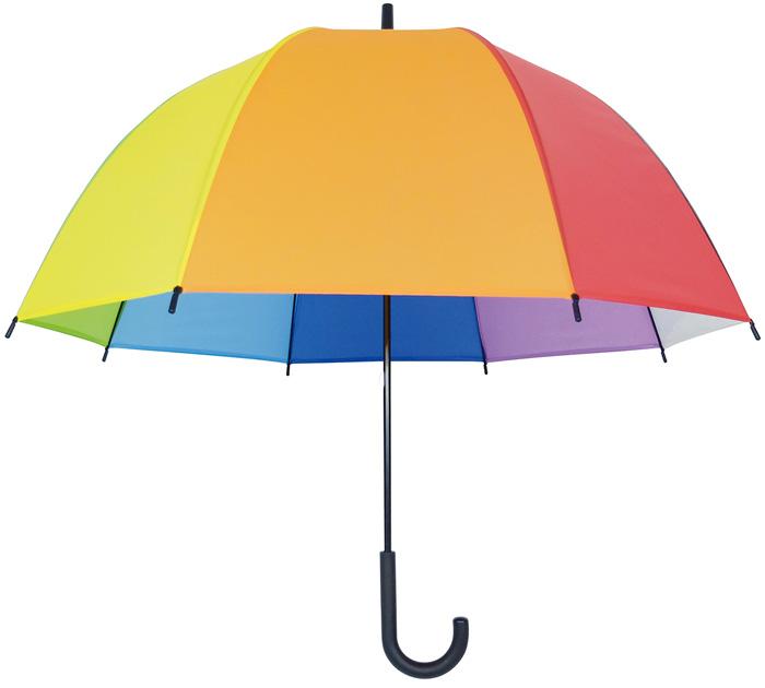 虹色のカラフルポップなビニール傘 ビニール傘 豊富な品 手開き式 深張り65cm 1本 新作 レインボーアンブレラ