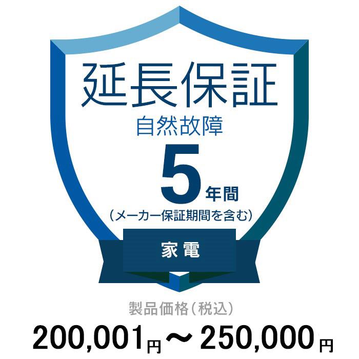 価格.com家電延長保証(自然故障)5年 家電 200,001~250,000円