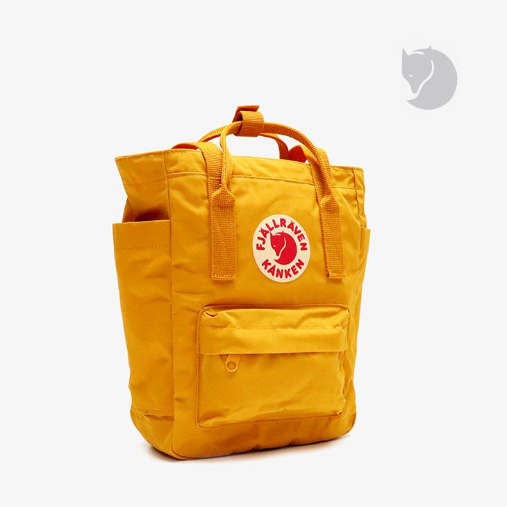 ・フェールラーベン《ユニセックス》カンケン トートバッグ ミニ/オークル/ FJALLRAVEN/Kanken Totepack Mini - Bag/Ochre #リュック バックパック デイパック ショルダー 通勤 通学 カジュアル 3way イエロー