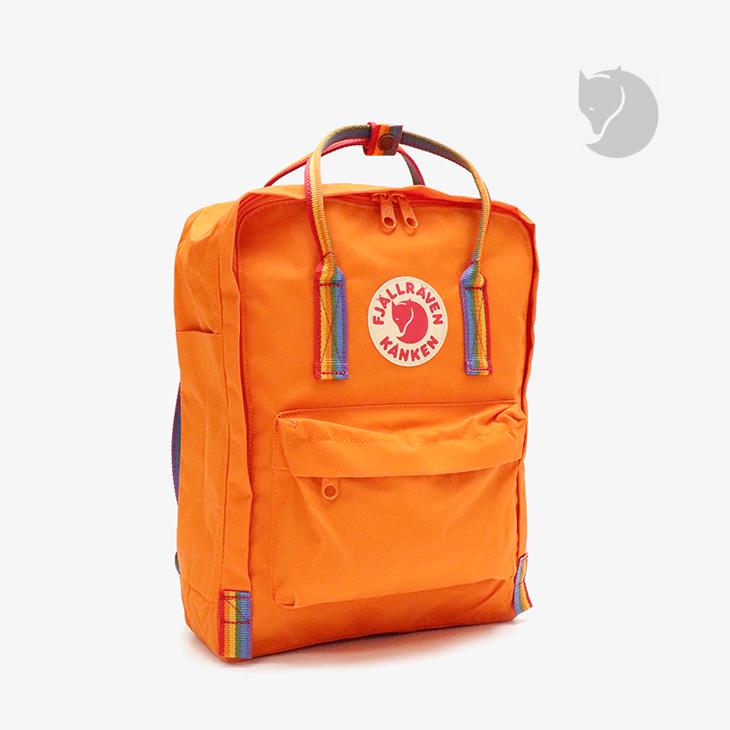 ・フェールラーベン《ユニセックス》カンケン レインボー/バーント オレンジxレインボー パターン/ FJALLRAVEN/Kanken Reinbow - Bag/Burnt OrangexRainbow Pattern #リュック バックパック デイパック カジュアル 通勤 通学