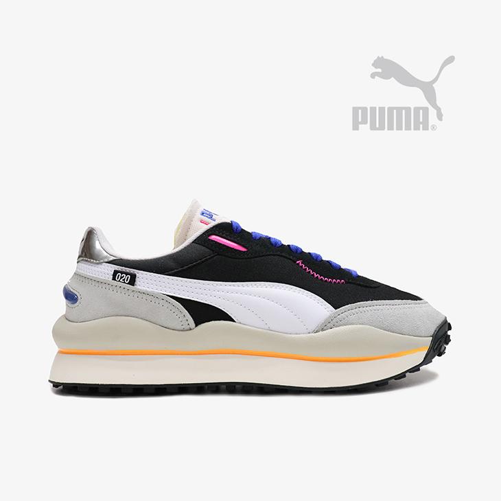 ・プーマ《ユニセックス》スタイル ライダー プレー オン/プーマ ブラックxハイ ライズ/ PUMA/Style Rider Play On/Puma BlackxHigh RisexGray Violet #スニーカー ファストライダー 40周年モデル