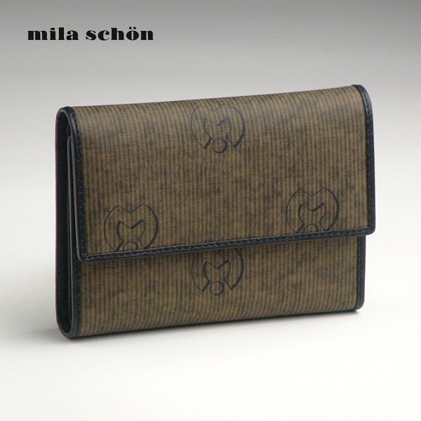 ミラ・ショーン(MILA SCHON) 二つ折り財布  【ミラショーン 2つ折り財布 折財布 免許証入れ 定期入れ カードケース 定期券 ケース】【春財布】