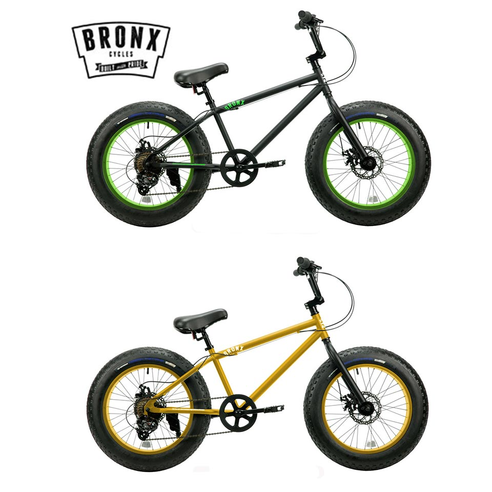 BRONX/ブロンクス BRONX 20DD 20 x 4.0 7段変速 ファットバイク 自転車 20インチ FATBIKE / Matte Black x Lime / Gold x Gloss Black / Matte Black x Black / Armygreen x Orange