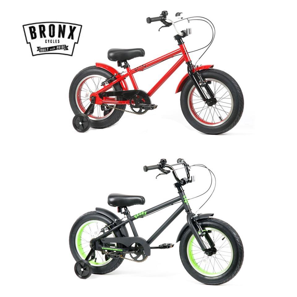BRONX/ブロンクス BRONX 3.0 16inch 変速なし ファットバイク 子供自転車 子供用自転車 幼児自転車 キッズバイク 16インチ FATBIKE / RED x BLACK / MATTE BLACK x LIME