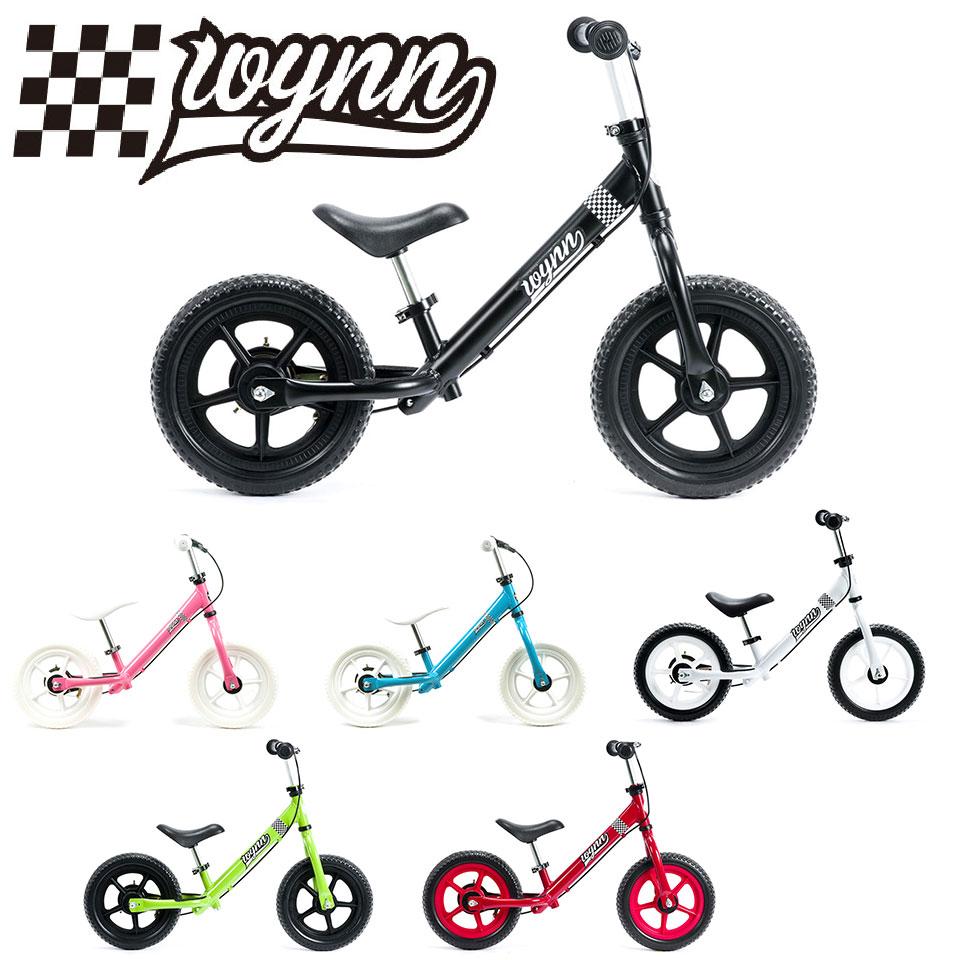 【簡単な組立必要】【送料無料】Wynn/ウィン キックバイク ランニングバイク トレーニングバイク ペダルなし自転車 バランスバイク 12インチ(2~5歳向け) RAINBOW KICKBIKE 子供用自転車 キッズバイク