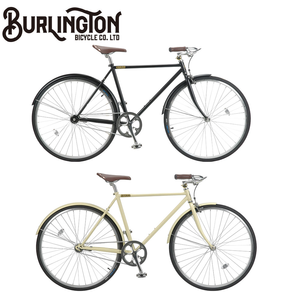 BURLINGTON 700C 1S ホリゾンタル 500mm/540mm シングルスピード バーリントン ノースウェストバイク ロードバイク 自転車 マットブラック / アイボリー