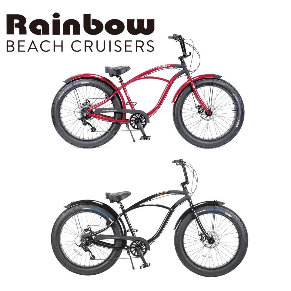 RAINBOW BEACHCRUISER/レインボービーチクルーザー GREASE 8段変速 26 x 3.5 グリース 自転車 26インチ SPADE BLACK スペードブラック マーシャル