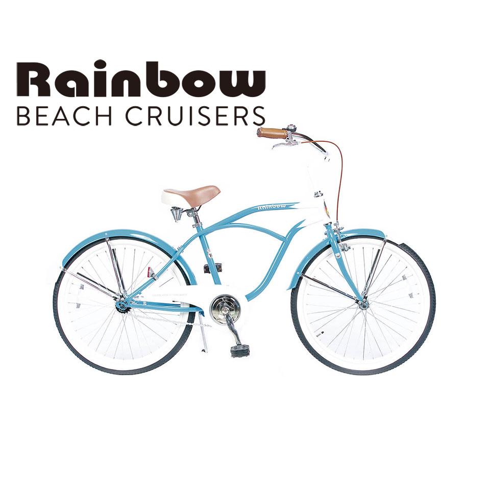 RAINBOW BEACHCRUISER/レインボービーチクルーザー PCH101 24TOWN タウン 自転車 24インチ / PEARL WHITE / SUNNY BLUE