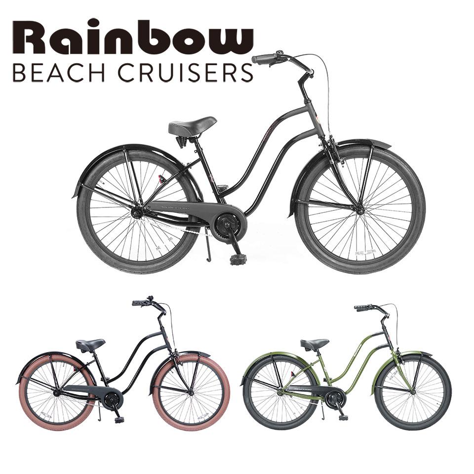 RAINBOW BEACHCRUISER/レインボービーチクルーザー PCH101 26LADYS BLACK COMPONENTS 自転車 26インチ レディース BC / CAT WOMAN / CAT WOMAN2 / ZERO /SAND FOX