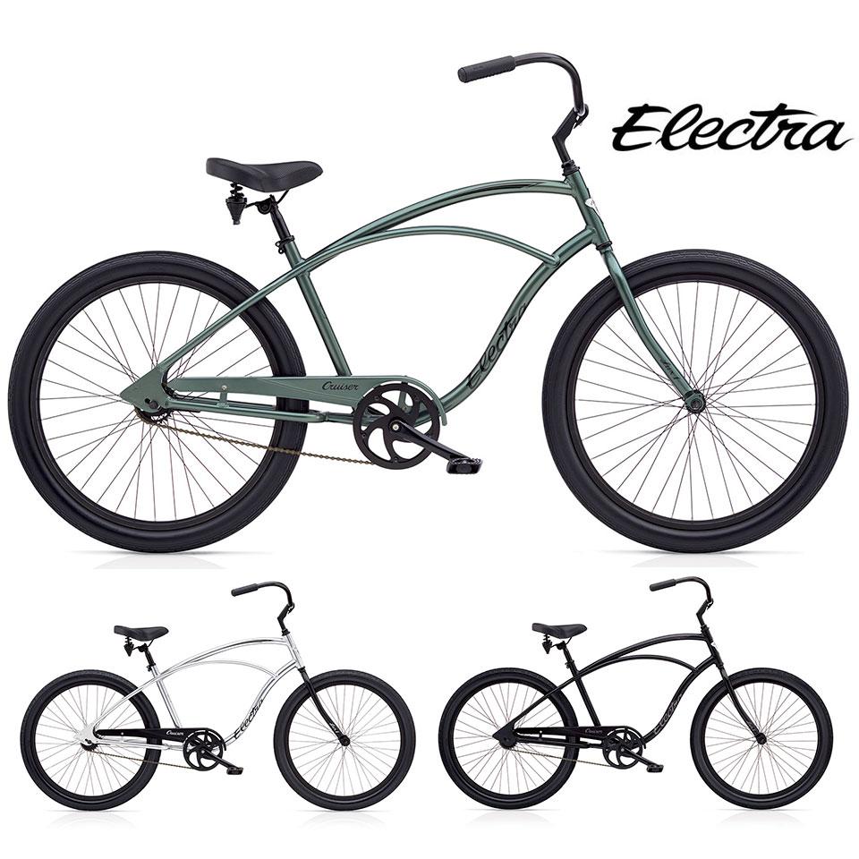 """ELECTRA CRUISER LUX 1 MENS/エレクトラビーチクルーザーラックスワン 26インチ シングルギア 26"""" X 2.35"""" 自転車 MENS メンズ/ Matt Black Polished Silver Anthracite"""
