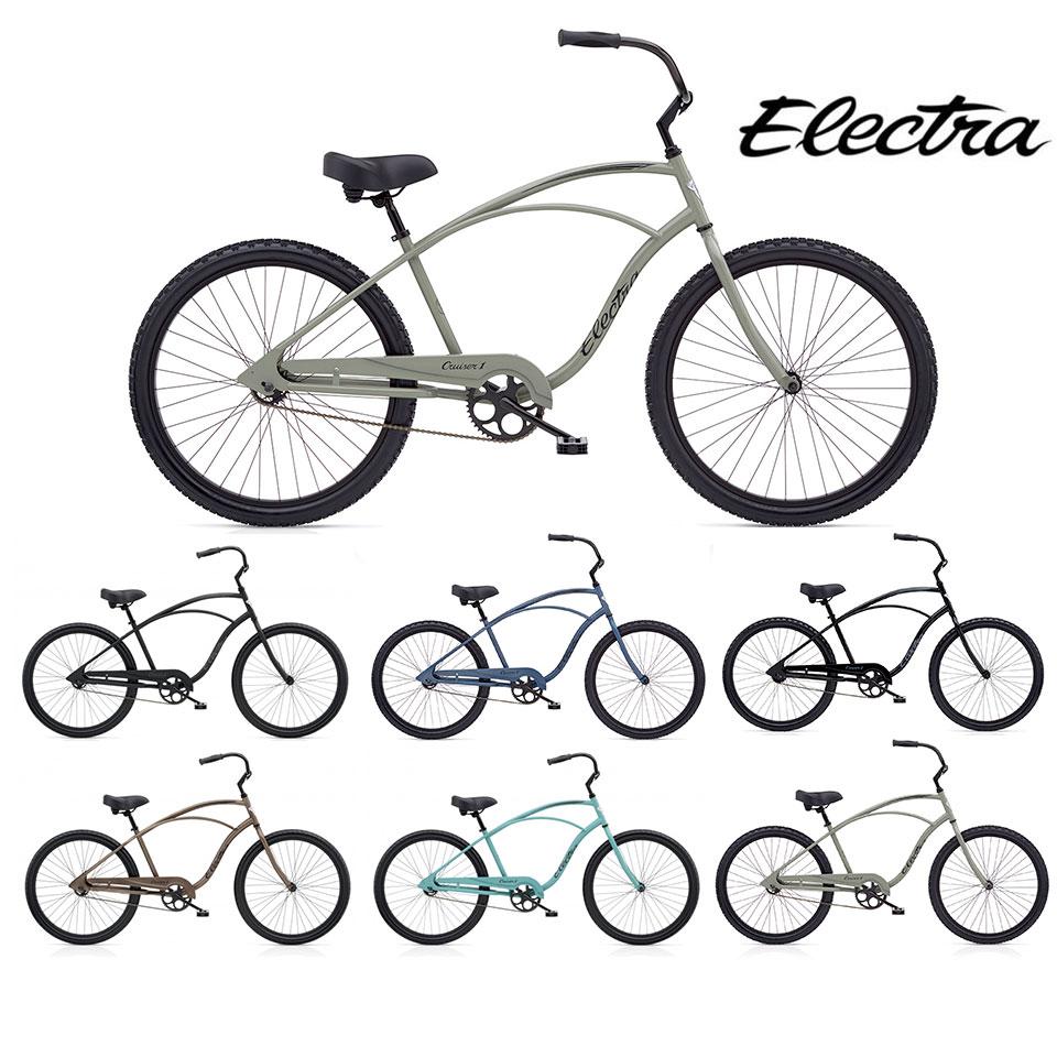 """ELECTRA CRUISER 1 MENS/エレクトラビーチクルーザーワンメンズ 26インチ シングルギア 26"""" X 2.125"""" 自転車 MENS メンズ/ Black Putty Matte Midnight Blue"""