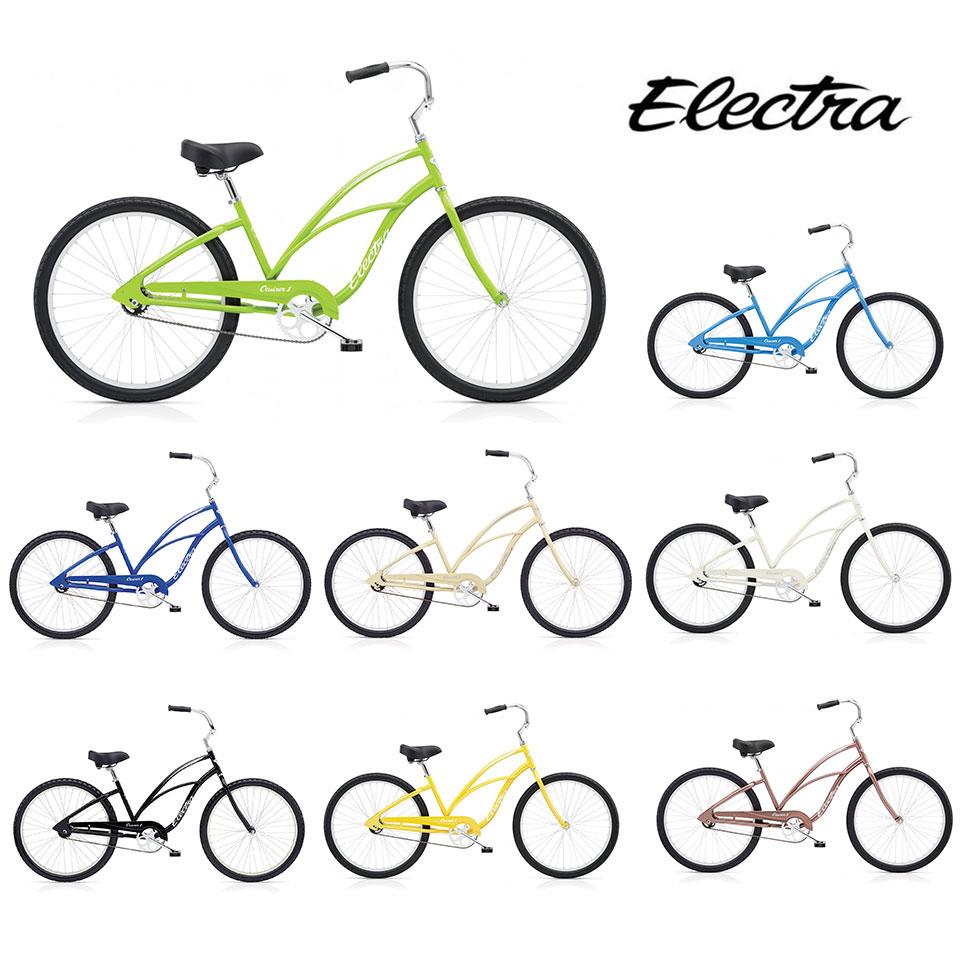 "ELECTRA CRUISER 1 LADIES/エレクトラビーチクルーザーワンレディース 26インチ シングルギア 26"" X 2.125"" 自転車 レディース/ Black Cream Sparkle Cobalt"