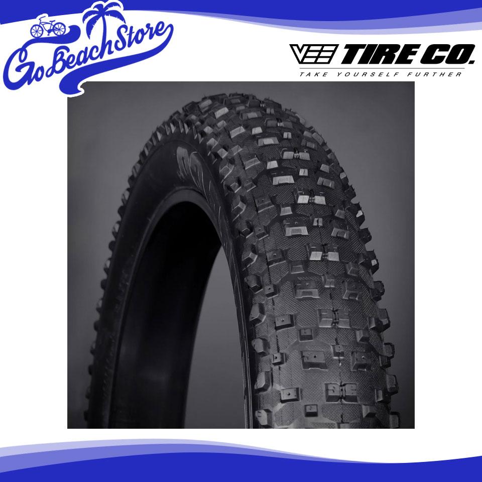 Vee Tire/ヴィータイヤ Vee Tire Snow Shoe XL スノーシューXL 26 × 4.8 タイヤ ワイヤービート Weight:1585g 自転車 カスタムタイヤ