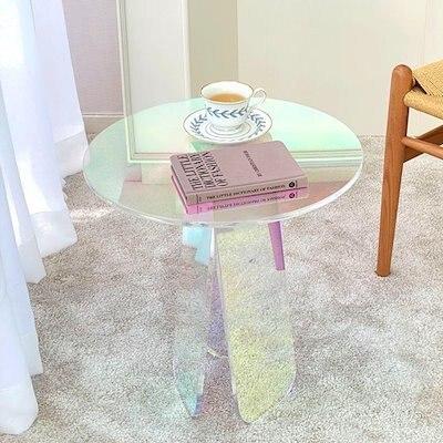 SNSで大人気のオーロラテーブル!光が差す方向によって雰囲気が変わる神秘的なテーブルです。 「PAPERGARDEN」 オーロラサイドテーブル ●送料込● 正規品
