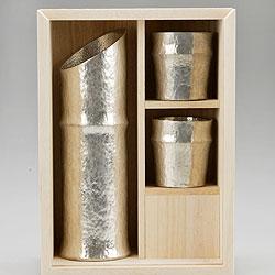 【能作】 竹型酒器セット 501300