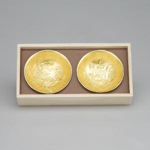 【能作】 祝の盃セット 金箔 600100