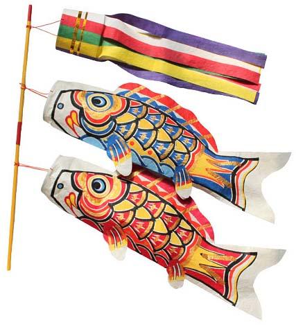 【今ならポイント5倍】【送料無料】【桂樹舎】 069 鯉のぼりセット中セット 日本の心がこもる【越中八尾の和紙】
