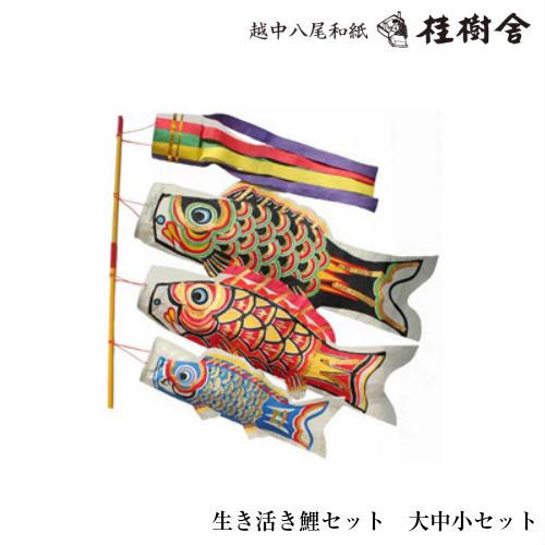 【桂樹舎】 069 鯉のぼりセット 大中小セット 日本の心がこもる【越中八尾の和紙】
