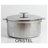 【送料無料】【CRISTEL クリステル】グラフィットシリーズ G 深鍋(ふた付) 22cm