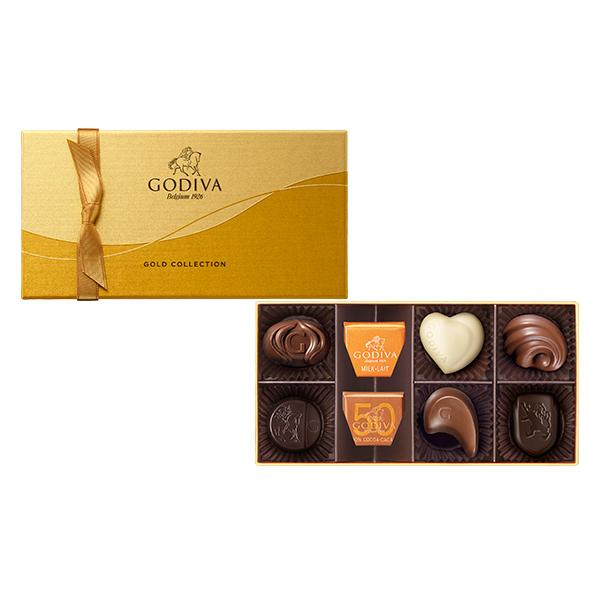 スイーツ 贈り物 お返しゴディバ GODIVA 百貨店 チョコレート ギフトお菓子 出産内祝い 結婚祝い 引き出物 お祝い ゴールド ギフト ゴディバ 8粒入 当店は最高な サービスを提供します Chocolate コレクション プレゼント お返し 詰合せ
