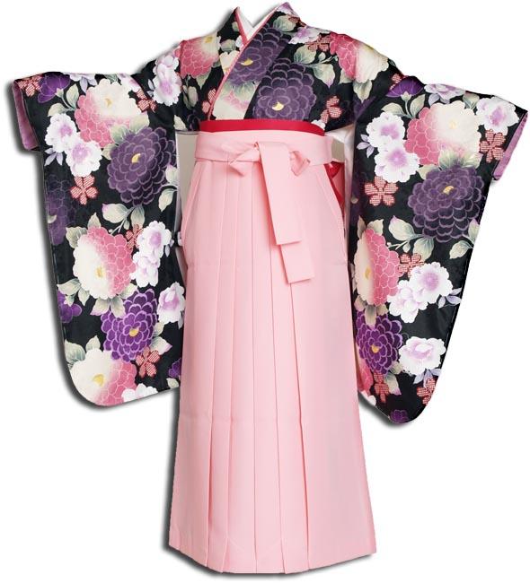 【往復送料無料】(13歳くらいの女の子用着物)レンタル十三詣り(十三参り)袴姿フルセット-1307