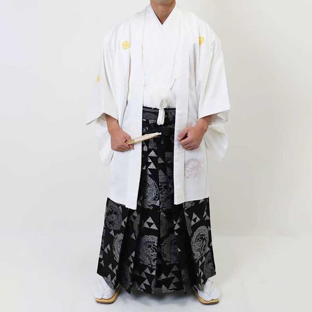 【レンタル】【成人式】安心の最大1ヶ月レンタル可能|男性用レンタル紋付き袴フルセット-7002