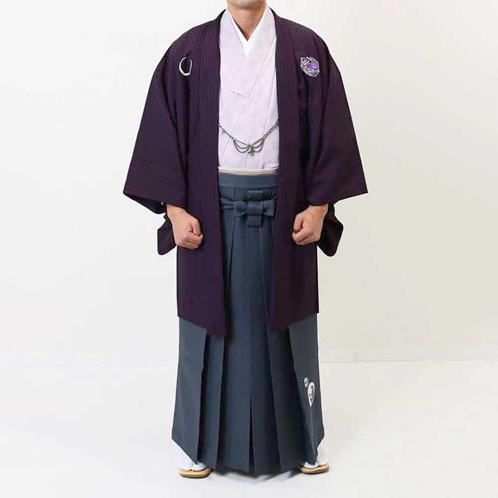 【レンタル】【成人式】安心の最大1ヶ月レンタル可能|男性用レンタル羽織袴フルセット-7261