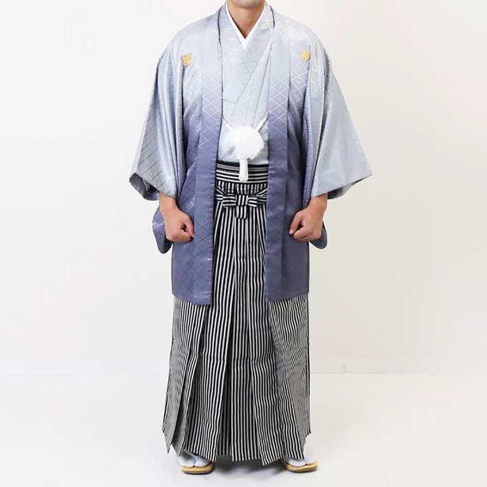 【レンタル】【成人式】安心の最大1ヶ月レンタル可能|男性用レンタル紋付き袴フルセット