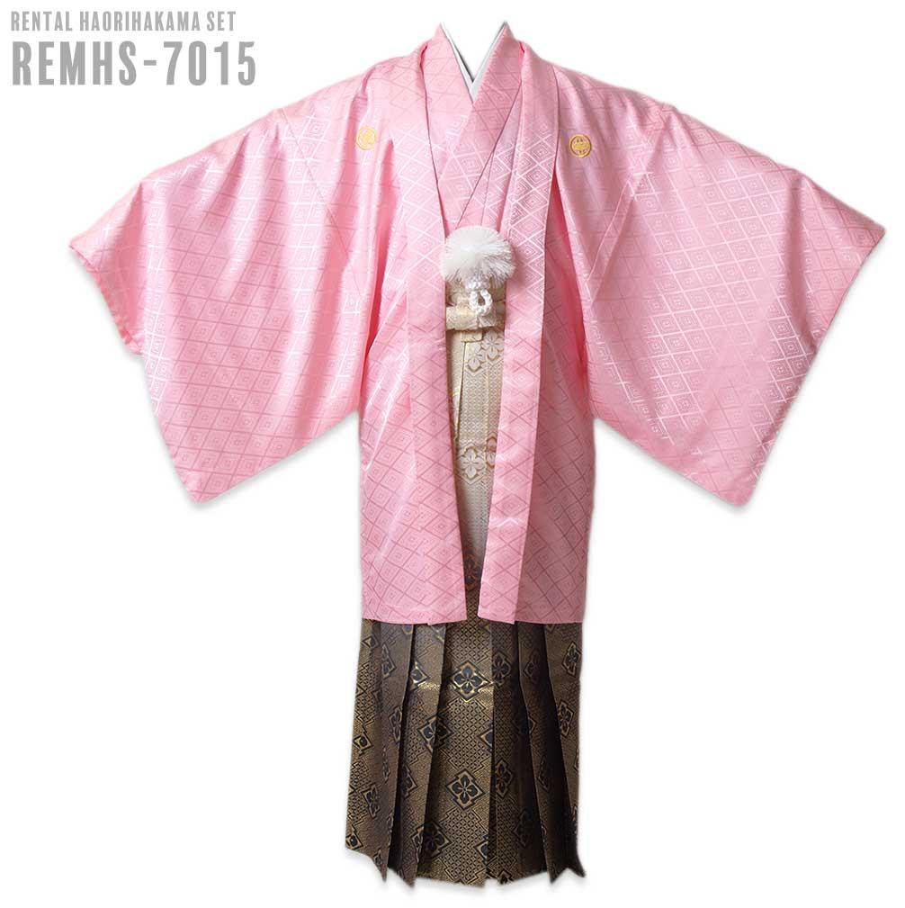 【レンタル】【成人式】安心の最大1ヶ月レンタル可能 男性用レンタル紋付き袴フルセット-7015