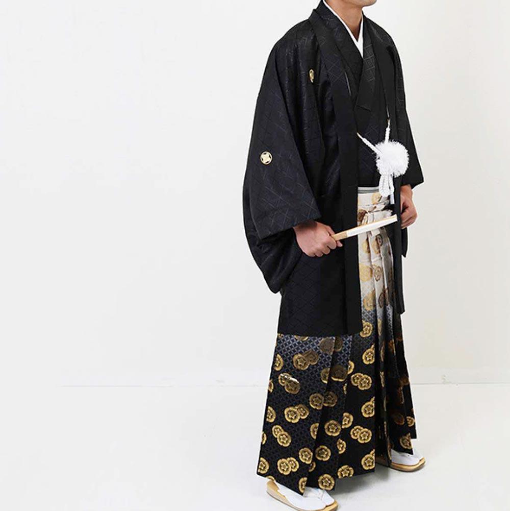 ��人�・�業�】 男性用レンタル紋付�袴フルセット-7281 �レンタル】