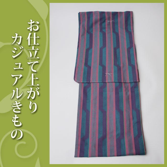 【お仕立て上がり着物】カジュアル着物-60075