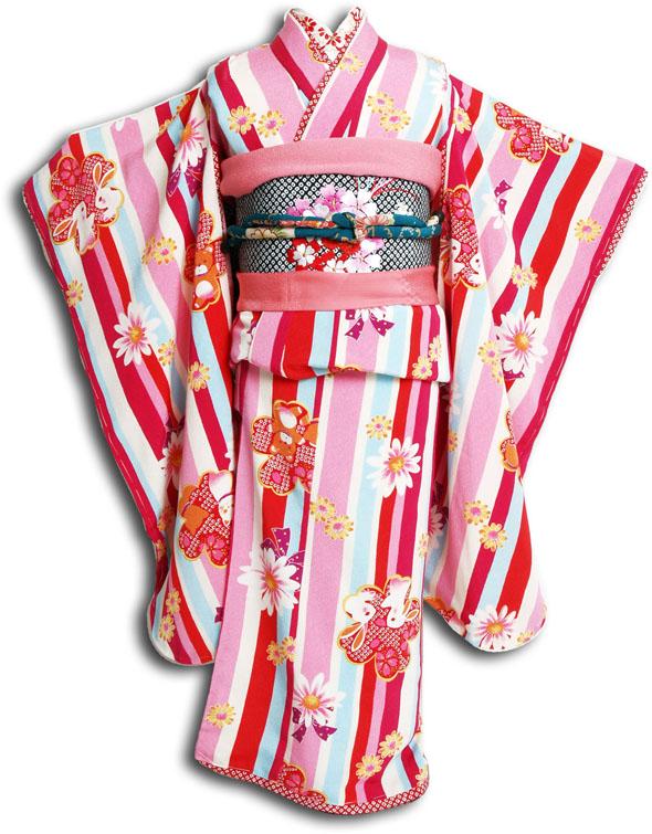 【往復送料無料】【レンタル七五三】【 JAPAN STYLE(ジャパンスタイル) 】女の子7歳用七五三お祝い着フルセット