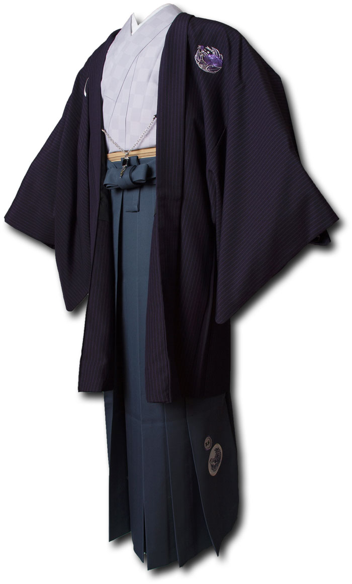 【レンタル】【成人式】安心の最大1ヶ月レンタル可能 男性用レンタル羽織袴フルセット-7255