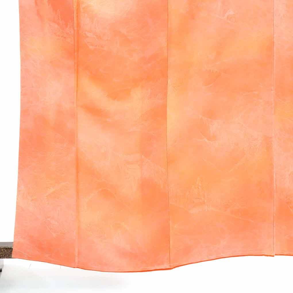 【中古】リサイクル着物 色無地 裄65cm 色無地 / 正絹ピンクオレンジ地袷色無地 / レディース【裄Mサイズ】(古着 袖丈49cm リサイクル品 色無地【あす楽】)身丈163cm 裄65cm 前幅24cm 後幅28.5cm 袖丈49cm, 大塔村:facb53c1 --- officewill.xsrv.jp