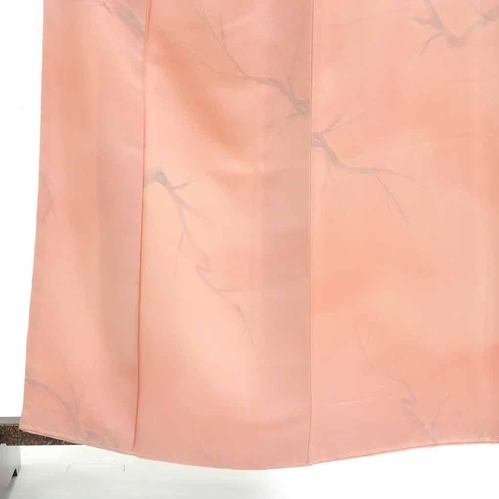 【中古】リサイクル着物 小紋 / 正絹ピンク地袷小紋着物未使用品 レディース 秋冬春用 シルク100% ピンク 裄Mサイズ【あす楽】身丈163cm 裄66cm 前幅24cm 後幅28.5cm 袖丈48cm