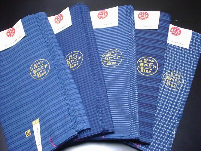 正藍みいと織松阪木綿着物 家庭で洗える木綿反物・反物幅が広いので男性にもお勧めです【あす楽】