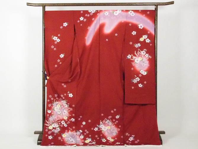 【ついに再販開始!】 正絹逸品振袖フルセット/赤地に花柄フルオーダー別誂え仕立振袖19点フルセット, レイライン 2ae99468