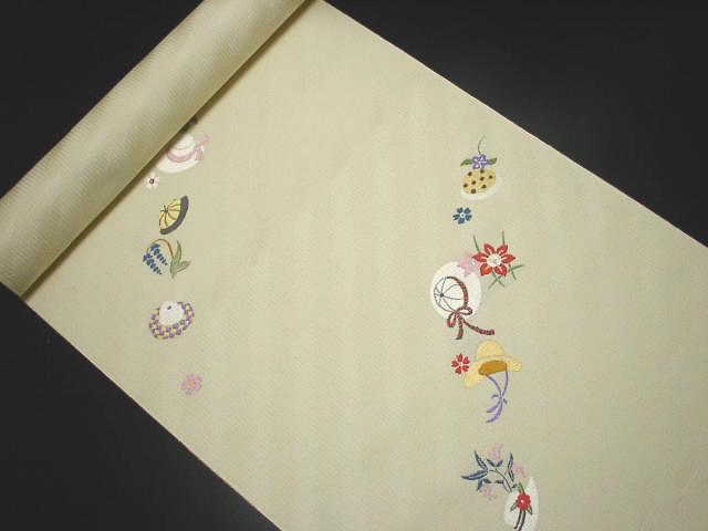 【 正絹名古屋帯 】名古屋帯 九寸帯 カジュアル用帯 帯 普段着用名古屋帯 着物帯 にんな織物 ゾウ柄【あす楽】