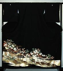 【レンタル】【貸衣裳】 rt203:山に松・菊 留袖 【貸衣装】 ワイドサイズ ゆったりサイズ 大きいサイズ 往復 送料無料【smtb-k】