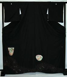 【レンタル】【貸衣裳】 rt207:茶器 留袖 【貸衣装】 ワイドサイズ ゆったりサイズ 大きいサイズ 往復 送料無料【smtb-k】