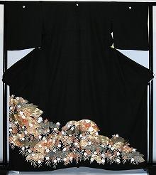 【レンタル】【貸衣裳】 rt293:単衣 扇子に小花 留袖 【貸衣装】 送料無料【smtb-k】